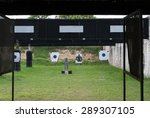 shooting gallery | Shutterstock . vector #289307105
