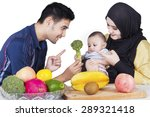 young father with his wife in... | Shutterstock . vector #289321418