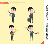 set of drawing flat character... | Shutterstock .eps vector #289321892