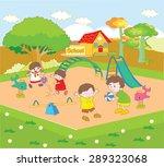 school and children in the... | Shutterstock .eps vector #289323068