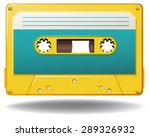 yellow tap cassete without a... | Shutterstock .eps vector #289326932