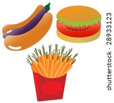 healthy eating icons  vector.... | Shutterstock .eps vector #28933123
