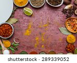 turmeric  chilli  pepper ... | Shutterstock . vector #289339052
