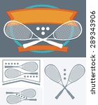 squash rackets and ball vector... | Shutterstock .eps vector #289343906