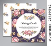 vintage greeting card with... | Shutterstock .eps vector #289344962