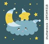 funny vector illustration in a... | Shutterstock .eps vector #289349318