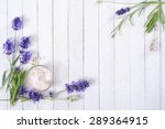 cosmetic cream and lavender... | Shutterstock . vector #289364915