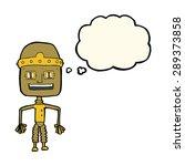 funny cartoon robot with... | Shutterstock . vector #289373858