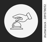 hotel bell icon | Shutterstock .eps vector #289378052