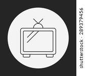 tv line icon | Shutterstock .eps vector #289379456
