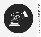 hotel bell icon | Shutterstock .eps vector #289381358
