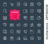thin lines web icons set   e... | Shutterstock .eps vector #289386038