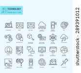 thin line icons set. icons for... | Shutterstock .eps vector #289391012