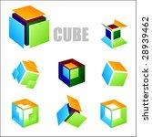 vector cube elements | Shutterstock .eps vector #28939462