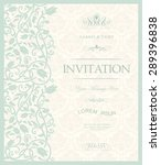 vintage invitation with... | Shutterstock .eps vector #289396838