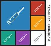 syringe icon | Shutterstock .eps vector #289404152