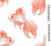 watercolor fish background.... | Shutterstock . vector #289405592