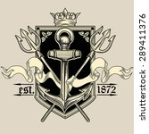 vector vintage nautical emblem | Shutterstock .eps vector #289411376