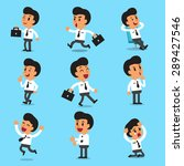 cartoon businessman character... | Shutterstock .eps vector #289427546