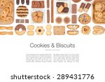 Cookies And Biscuits On White...