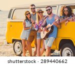 carefree weekend with friends.... | Shutterstock . vector #289440662