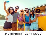 Capturing Summer Fun. Group Of...