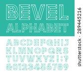 beveled alphabet vector font.... | Shutterstock .eps vector #289445216