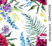 watercolor vector pattern with... | Shutterstock .eps vector #289445528