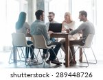 working on new project together.... | Shutterstock . vector #289448726