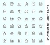 houses icons  simple and thin... | Shutterstock .eps vector #289455746