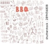 vector set of hand drawn doodle ... | Shutterstock .eps vector #289456808