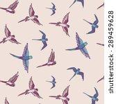 budgie bird pattern | Shutterstock .eps vector #289459628