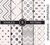 set of vector seamless...   Shutterstock .eps vector #289460462