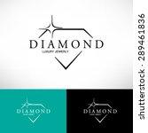diamond icon in flat style.... | Shutterstock .eps vector #289461836