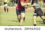 rugby players fighting for ball ... | Shutterstock . vector #289463432