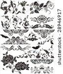 floral elements for design | Shutterstock .eps vector #28946917