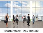young team in the modern office ... | Shutterstock . vector #289486082