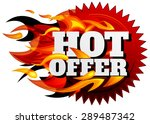 hot sale offer   illustration | Shutterstock .eps vector #289487342