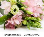 bouquet of pink and green...   Shutterstock . vector #289503992