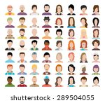 set of people icons in flat... | Shutterstock .eps vector #289504055