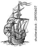 vector illustration of an old... | Shutterstock .eps vector #28950607