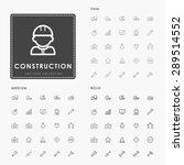 construction thin  medium and... | Shutterstock .eps vector #289514552