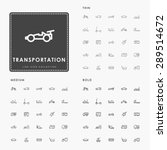 transportation thin  medium and ... | Shutterstock .eps vector #289514672