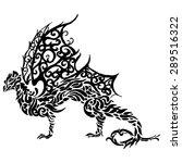 vector illustration dragon   Shutterstock .eps vector #289516322