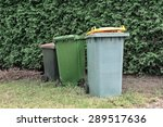 dumpster filled with household... | Shutterstock . vector #289517636