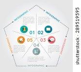 infographic pentagon. template... | Shutterstock .eps vector #289519595