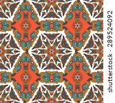 seamless pattern ethnic style.... | Shutterstock .eps vector #289524092