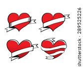 tattoo design heart vector... | Shutterstock .eps vector #289525226