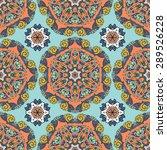 seamless pattern ethnic style....   Shutterstock .eps vector #289526228