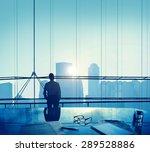 businessman thinking... | Shutterstock . vector #289528886